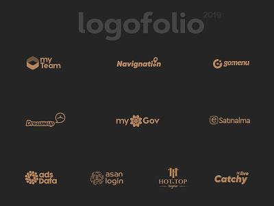 Logofolio 2019 graphic illustrator type minimal design flat logo typography icon