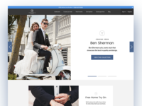 Tuxedo Rental Homepage Redesign