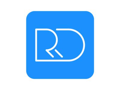 Personal Logo Redesign 2018 mark square blue logo personal identity