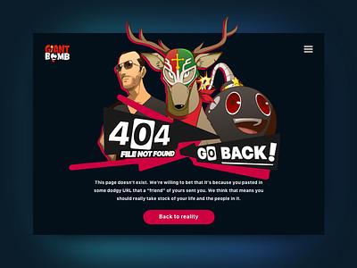 404 Page UI Task 008 persona giantbomb giant bomb error 404 daily ui