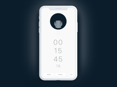 Countdown Clock UI Task 013 minimal cuckoo muji clock countdown dailyui daily ui