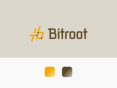 Bitroot Branding illustration design logo design branding logo