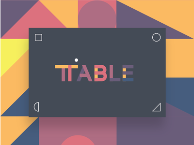 TABLE Playground collaborative platform brand identity visual language art
