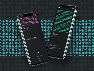 Further Future on Mobile generative art mobile ui