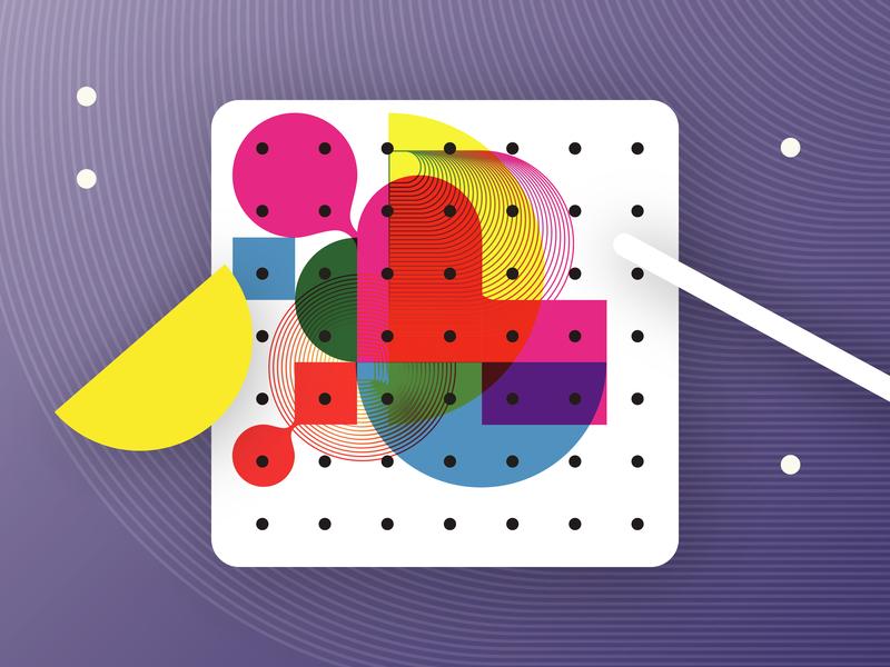 Constellation Visual Language brand vector illustration visual language brand identity art