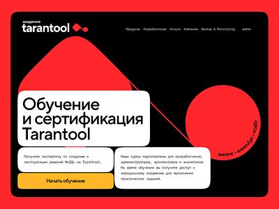 Tarantool School alternative version courses school learning website web ux ui promo minimal flat desktop branding