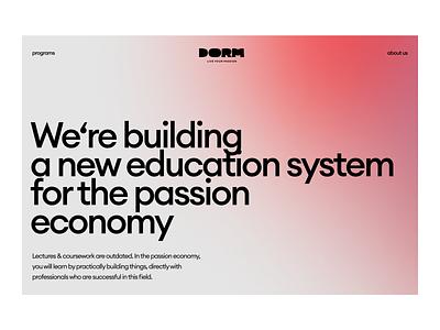 Dorm — logo alterations p1 logo platform education website branding