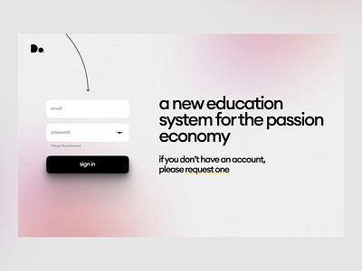 Dorm Dashboard education login dashboard app design website ui