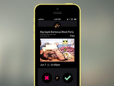 Homies App mobile interface ui iphone event share homies app