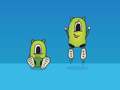 Baby Monster Pt.2 cartoon baby character illustration monster