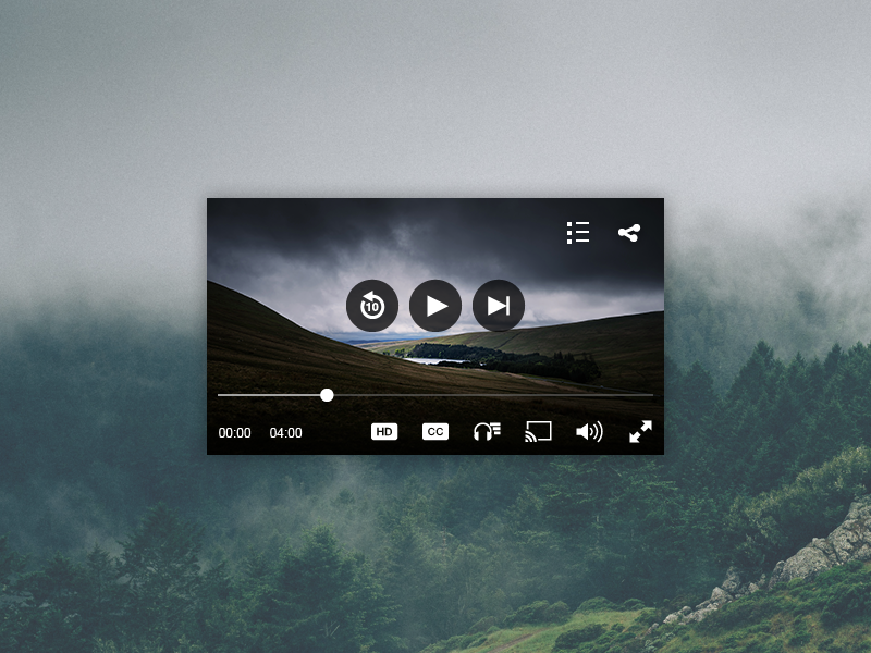 JW Player Mobile UI mobile icons controls video player video