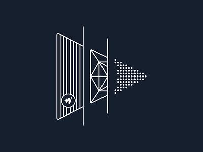 JW Player   Evolution of Video vector design logo branding icon illustration