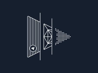 JW Player | Evolution of Video vector design logo branding icon illustration
