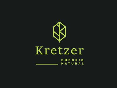 Logotype Kretzer - Leaf Monogram
