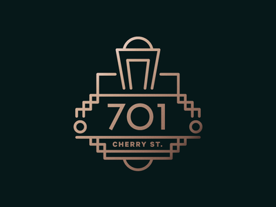 701 Cherry Street - 20s Edition numbers street cherry chattanooga 701 shine gradient copper twenties roaring art deco