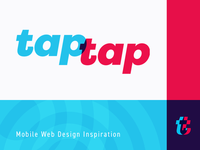 taptap – Mobile Web Design Inspiration typography logotype blue red inspiration mobile taptap overlay multiply branding logo
