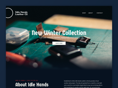 Idle Hands Leather Co. - Site Hero