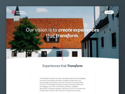 Winshape Foundation - Site Launch