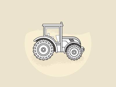 Tractor: An Illustration coffee tractor farming sandy illustration neutral strokes vector texture shadow layer