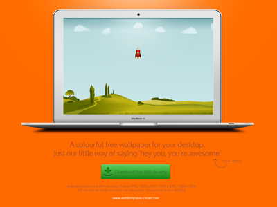 Free wallpaper landing page wallpaper landing page orange green colourful rocket illustration