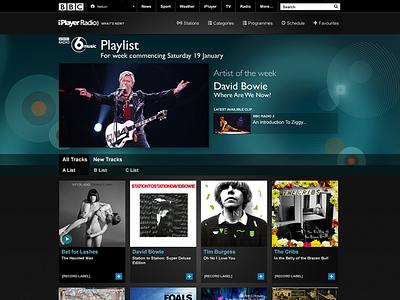 BBC playlist responsive direction creative concept ux design ui