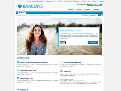 Barclays Bank Account responsive direction creative ux design bank ui