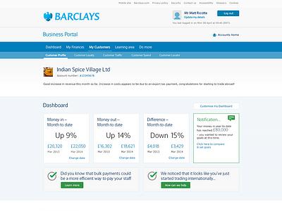 Barclays business portal concept concept direction creative ux design ui