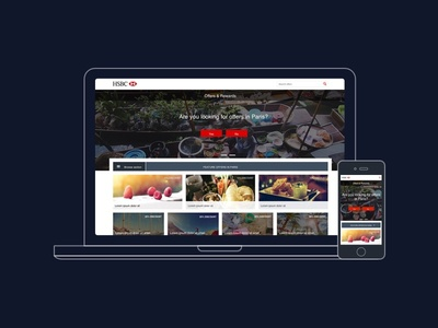 HSBC Offers hsbc offers desktop mobile reactjs responsive ui design ux