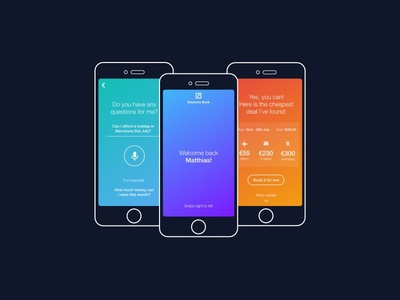 Competition for Deutsche Bank assistance app mobile ui ux ai banking