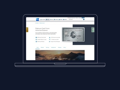 America Express Cards ux ui responsive reactjs offers mobile amex desktop design