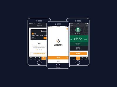 MuchBetter Wallet debit card rewards wallet startup ux ui offers mobile app