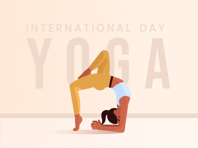 IInternational day of Yoga  for Freepik illustration vector asana pose yoga girl yoga