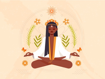 Pachamama - Mother Earth colorful vector illustration earth nature pachamama mother earth