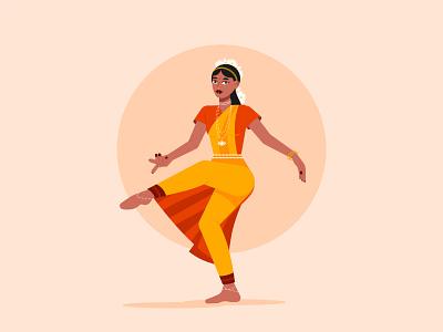 Teej Festival people vector colorful illustration festival dance india rajasthan