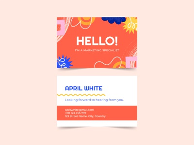 Abstract Business Card branding card business design illustration colorful vector