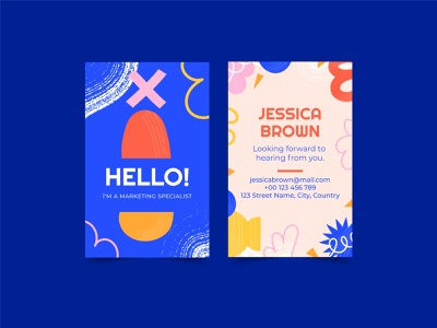 Abstract Business Card illustration vector colorful business cards branding graphic design