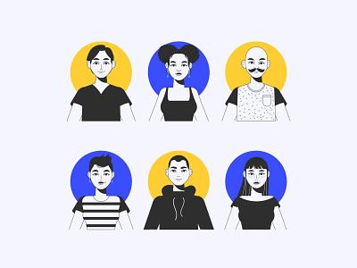 Avatar profile icon collection avatar profile people vector illustration