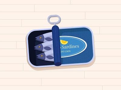 Sardines vector colorful illustration fish sardines