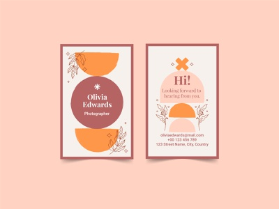 Boho business card card business boho colorful vector illustration