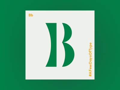 B lettering b typogaphy typeface type letter 36daysoftype