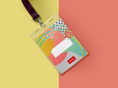ID badge - Inova identity colors colorful graphic design id badge name tag badge