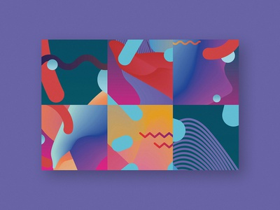 colorful composition event design gradient colorful colors identity graphic design