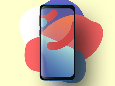experimental | wallpaper for smartphone vector ui smartphone experiment digital gradient graphic design colorful colors