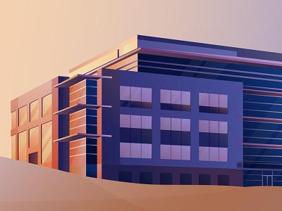 Company Headquarters building scenery scenic vector illustrator illustration