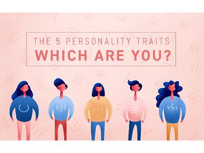 5 Personality Traits article blog procreate illustrator illustrated illustration personality