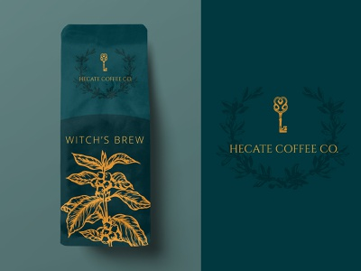 Weekly Warm Up - Coffee Brand witch illustrator weekly warm-up weekly warmup mockup coffee
