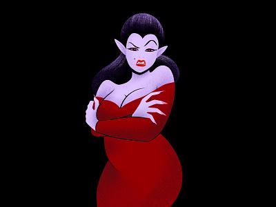 Vampiress illustrated weeklywarmup weekly warm-up halloween illustration procreateapp procreate app procreate vampire