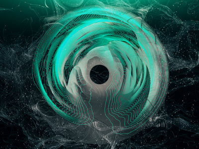 Green Circle torus circles cinema 4d green mountains abstract redshift octane c4d cinema4d cg render 3d