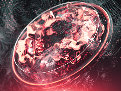 Red Circle houdini redshift render octane motiondesign fire cloner cinema4d cg c4d 3d