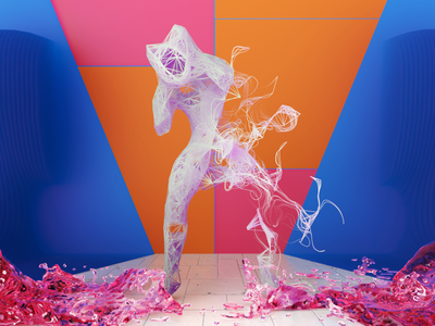 Agony abstract colorful man animation redshift octane c4d cinema4d cg render 3d